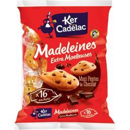 Madeleines extra moelleuses maxi pépites de chocolat