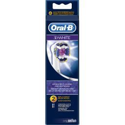 Oral B Oral B Brossettes de rechange pour brosse à dents électrique - 3dwhite La boite de 2 brossettes