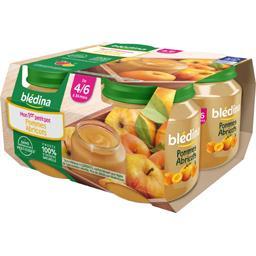 Dessert pommes abricots, dès 4/6 mois