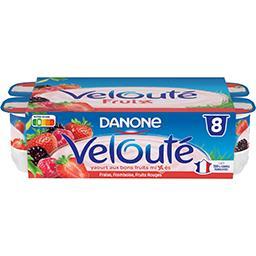 Danone Danone Velouté Fruix - Yaourt brassé aux fruits les 8 pots de 125 g