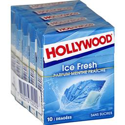 Hollywood Ice Fresh - Chewing-gum menthe fraîche sans sucres