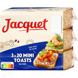 Jacquet Jacquet Mini-toasts nature les 3 paquets de 20 - 255 g