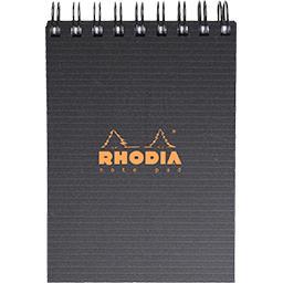 Rhodia Rhodia Bloc reliure intégrale 74x105 5x5 noir le bloc de 160 pages