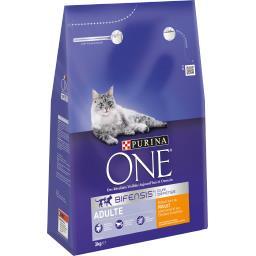Purina One Purina One - Croquettes Bifensis poulet et céréales complètes pour chats le sac de 3 kg