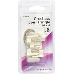 Crochets pour tringle adhésif