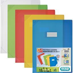 Elba Elba school life protege cahier 24x32 transparent assorti le lot de 4+1