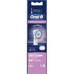Oral B Oral-B Brossette sensitive clean Le lot de 2 brossettes