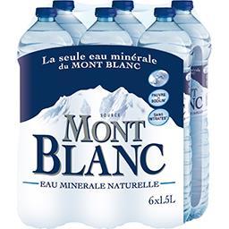 Eau minérale naturelle mont blanc
