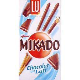 Biscuits nappés de chocolat au lait, le paquet,75g
