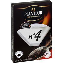 Filtres à café n°4, 100% fibres végétales