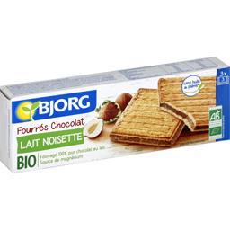 Biscuits fourrés chocolat lait noisettes BIO