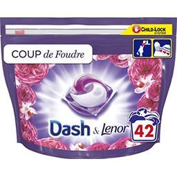 Dash Dash Lessive en capsules coup de foudre La boîte de 42 lavages