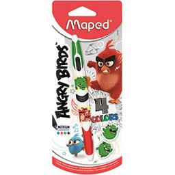 Maped Maped Stylo bille 4 Colors Angry Birds le stylo bille
