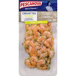 Crevettes décortiquées cuisinées citron et basilic
