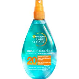 Eau protectrice solaire FPS 20 protection moyenne