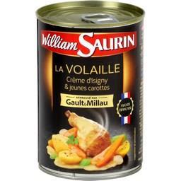 Plat cuisiné volaille crème Isigny carottes William Saurin