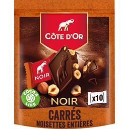 Côte d'Or Côte d'Or Carrés de chocolat noir noisettes entières le sachet de 10 - 200 g