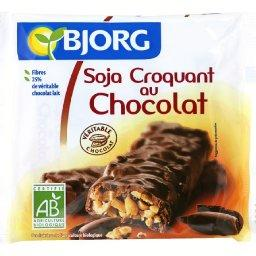 Barre BIO au soja et au chocolat au lait