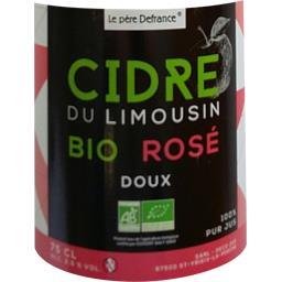 Cidre du Limousin BIO rosé doux
