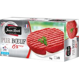 Steak haché pur bœuf 15% MG