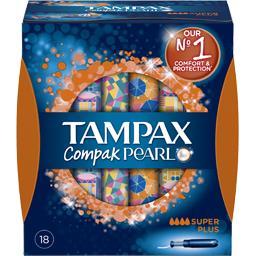 Tampons Compak Pearl Super Plus avec applicateur x18 Tampax