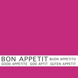 Serviettes 3 plis 33x33 cm fuchsia Bon Appétit