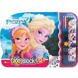 Giga Block à colorier Frozen
