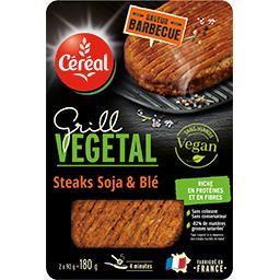 Céréal Steaks soja & blé Grill Vegetal les 2 steaks de 90 g