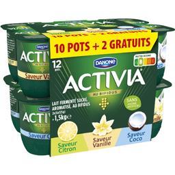 Activia - Lait fermenté au Bifidus saveur citron/van...