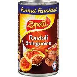 Ravioli bolognaise sauce riche en bœuf