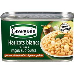 Cassegrain Haricots blancs cuisinés façon sud-ouest la boite de 410 g