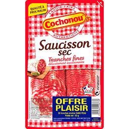 Cochonou Cochonou Saucisson sec tranches fines la barquette de 93 g - Offre Plaisir