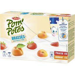 Pom'Potes - Brassés aux fruits mixés fraise abricot