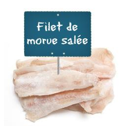 Filet de MORUE SALEE La portion à la demande à partir de 500gr