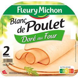 Fleury Michon Fleury Michon Blanc de poulet doré au four la barquette de 2 tranches - 80 g