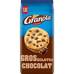 LU LU Granola - Biscuits gros éclats de chocolat le paquet de 184 g