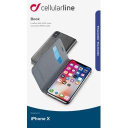 Etui rabat portefeuille noir pour iPhone X