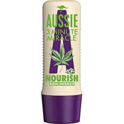 Aussie Aussie Soin intensif minute 3 miracle nourish, pour cheveux secs et abîmés, á l'extrait de graines de chanvre La bouteille de 250ml