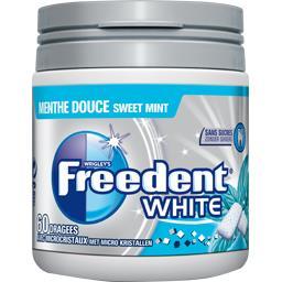 Freedent Freedent White - Chewing-gum menthe douce sans sucres la boite de 60 dragées - 84 g