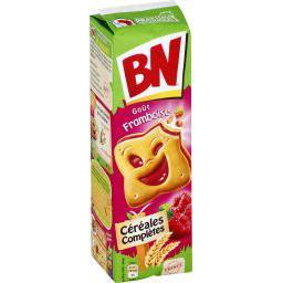 BN BN Biscuits céréales complètes à la pulpe de framboise le paquet de 295 g