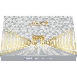 Lindt Lindt Champs-Elysées - Assortiment de chocolats Diamant au lait/noirs/blancs la boite de 44 - 468 g
