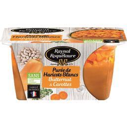 Purée de haricots blancs butternut & carottes