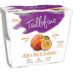 Danone Taillefine Spécialité laitière pêche & fruit de la passion les 4 pots de 115 g
