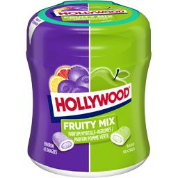 Hollywood Chewing-gum Fruity Mix myrtille agrumes/pomme sans s...