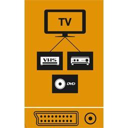 Adaptateur péritel mâle/S-vidéo + 3 RCA femelles