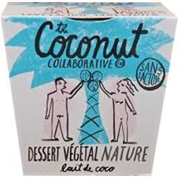 Dessert végétal au lait de coco nature