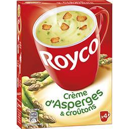 Royco Royco Crème d'asperges et croûtons les 4 sachets de 15,0 g