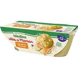 Blédina Blédina Les Idées de Maman - Courgettes riz veau, de 12 à 36 mois les 2 bols de 200 g