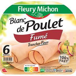 Fleury Michon Fleury Michon Blanc de poulet fumé la barquette de 6 tranches - 180 g