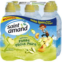 Eau minérale naturelle saveur pomme/pêche/poire